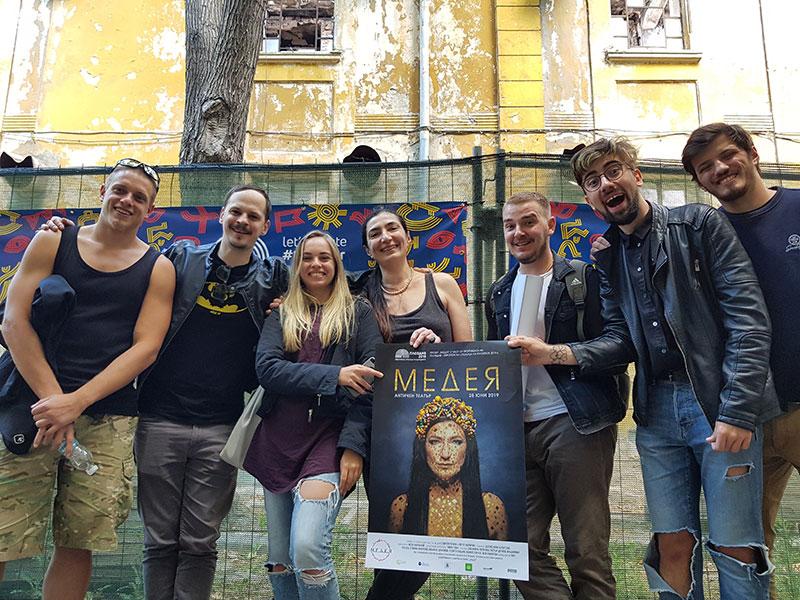 """Екип по проект """"Медея"""" със студенти"""